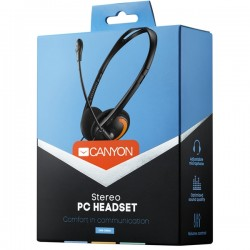 Ακουστικά & Μικρόφωνο Σετ Canyon Stylish And Comfy Headset, 2 x 3.5mm, microphone - CNS-CHS01BO