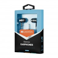 Ακουστικά Στερεοφωνικά Canyon Stereo headphones with mic, 3.5mm BLACK - CNE-CEPM01B
