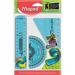 Γεωμετρικό Σετ Οργάνων Maped Twist'n Fleχ 15cm - 3 Tmx