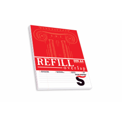 Mπλοκ γραφής Refill Overlap Α4 Skag, ριγέ με περιθώριο & άνοιγμα πάνω